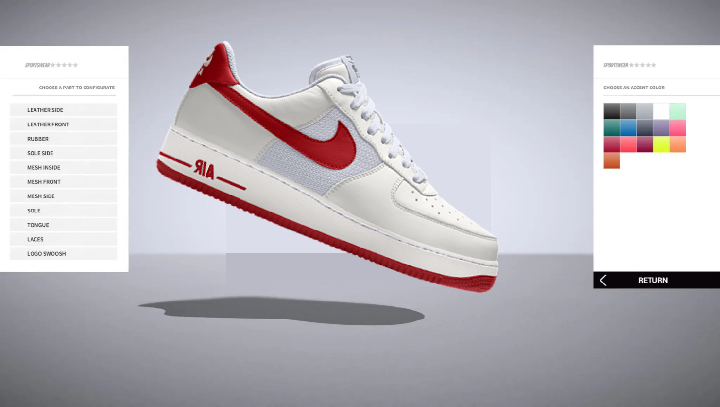 3d-configurator-online-Nike-Air-Force-1-Shoe-Amsterdam-customize
